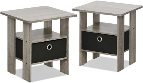 FURINNO Andrey 2-Pack Nightstand Set