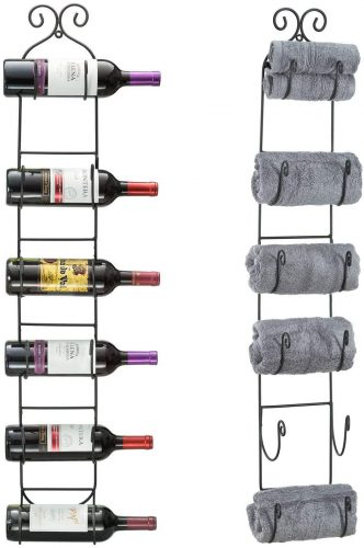 Sorbus Wall Mount Wine Rack