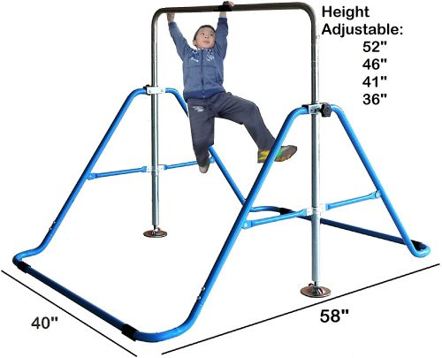 Kids Jungle Gymnastics Expandable Junior Training Monkey Bars