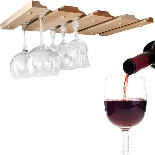 SMITCO Under Cabinet Wine Glass Rack