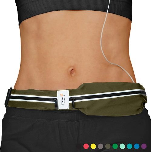 Sport2People Running Belt USA Patented - Hands-Free Workout Fanny Pack - iPhone X 6 7 8 Plus Buddy Pouch for Runners - Freerunning Reflective Waist Pack...