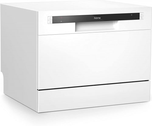 hOmeLabs Compact Countertop Dishwasher - Energy Star Portable Mini Dish Washer in Stainless Steel Interior for Small Apartment Office and Home Kitchen with...