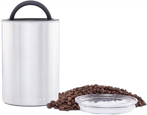 Planetary Design Airscape Coffee and Food Storage Canister - Patented Airtight Lid Preserve Food Freshness with Two Way CO2 Valve, Stainless Steel Food...