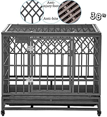 Heavy Duty Dog Crate by SMONTER