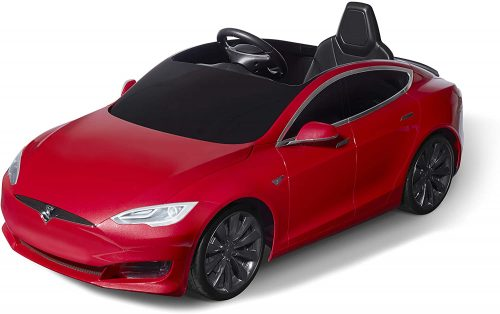 Radio Flyer Tesla Model S for Kids, Red