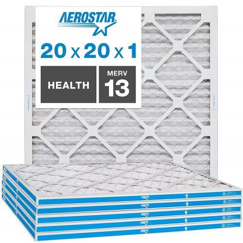 Aerostar Home Max 20x20x1 MERV 13 Pleated Air Filter