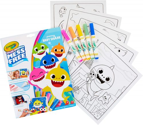 Crayola Baby Shark Color Wonder Coloring Pages