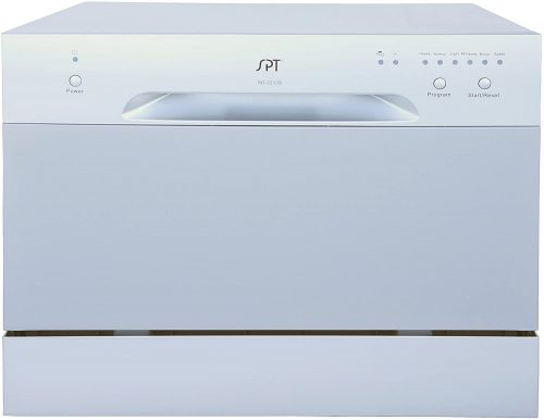 Sunpentown SD-2213S Countertop Dishwasher in Silver, Gray