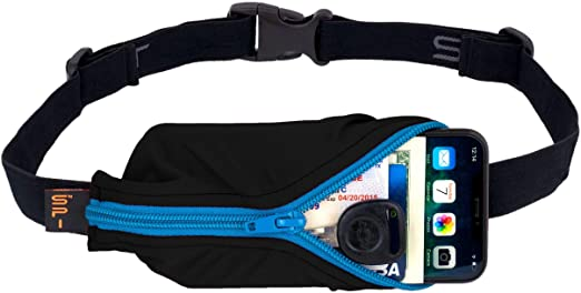 SPIbelt Running Belt Original Pocket, No-Bounce Waist Bag for Runners Athletes Men and Women fits Smartphones iPhone 6 7 8 X Workout Fanny Pack Expandable Sport Running Pouch Adjustable One Size