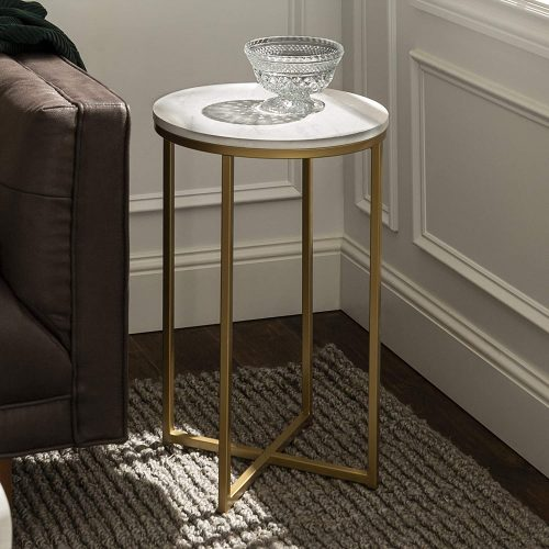 Walker Edison Furniture Company Round Accent Table