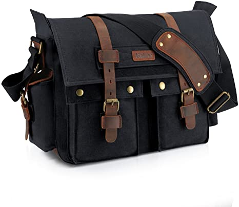 Canvas Leather Bag by Kattee