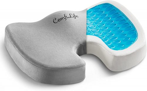 ComfiLife Gel Enhanced Seat Cushion - Non-Slip Orthopedic Gel & Memory Foam Coccyx Cushion for Tailbone Pain - Office Chair Car Seat Cushion - Sciatica & Back Pain Relief