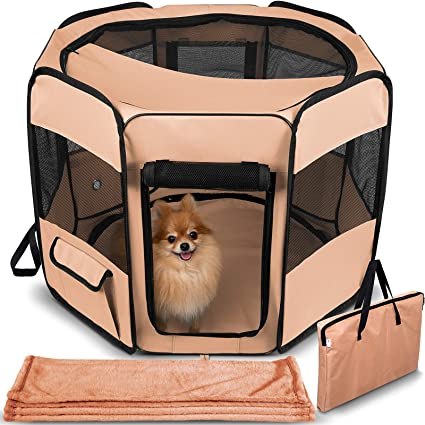 Dog Playpen with Blanket by Paws & Pals