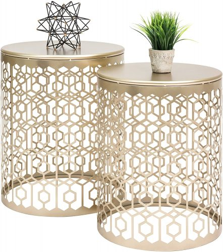 Decorative Nesting Round Nightstands by Best Choice Products