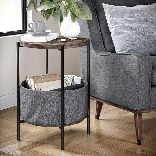 Nathan James 32201 Oraa Round Side Table