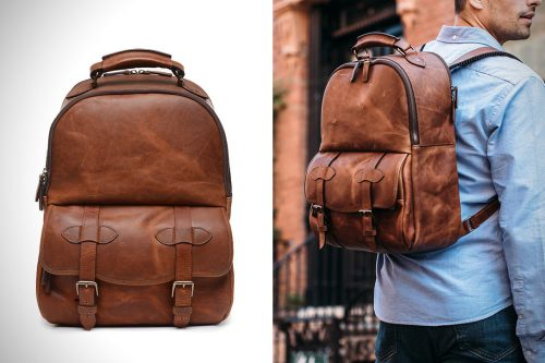 Leather Backpack by Korchmar
