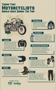 [INFOGRAPHIC] Things That Motorcyclists Should Have During The Trip