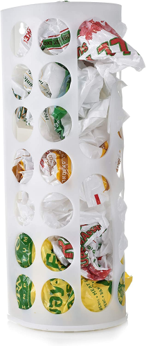 Grocery Bag Storage Holder - This Large Capacity Bag Dispenser Will Neatly Store Plastic Shopping Bags and Keep Them Handy for Reuse. Access Holes Make Adding or Retrieving Bags Simple and Convenient
