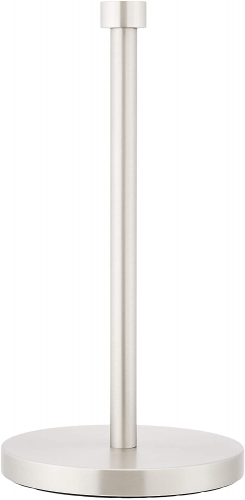 AmazonBasics Stand-up Button Paper Towel Holder - 13 Inch, Nickel