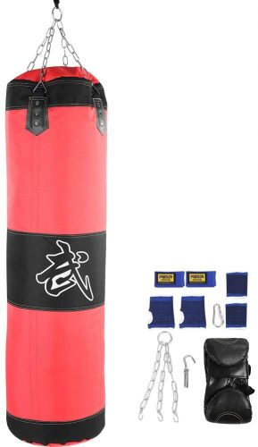 Fafeims Empty Heavy Punching Bag MMA Boxing Kickboxing Workout Training Sandbag Set with Mount Chain