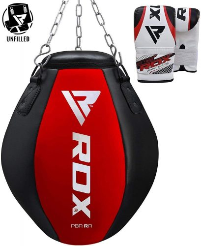 RDX Punching Bag UNFILLED - Uppercut Heavy Wrecking Ball Punch Training Gloves - Great for Boxing, Muay Thai, MMA, Sparring and Kickboxing