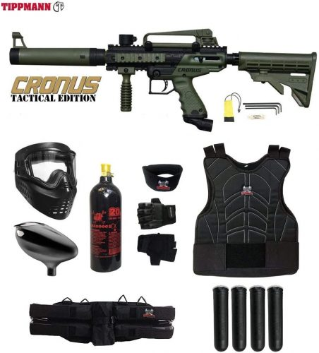 Maddog Tippmann Cronus Tactical Starter Protective CO2 Paintball Gun Package