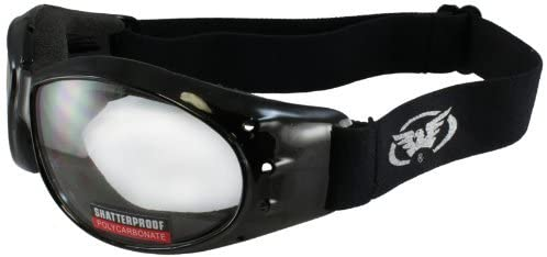 Global Vision Eliminator glasses, Clear Shatterproof, Anti-Fog Lens