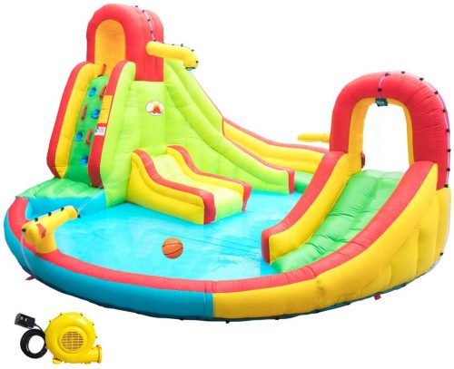 WELLFUNTIME Heavy Inflatable Water Slide Park