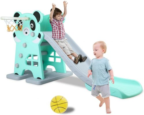 LAZY BUDDY Kids Slide, Sturdy Toddler Playground Slipping Slide Climber for Indoor Outdoors Use