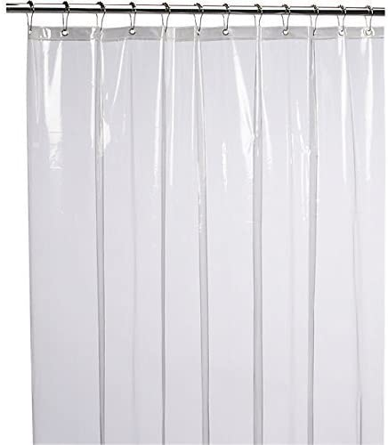 Liba PEVA Antimicrobial Shower Curtain Liner, White Fabric