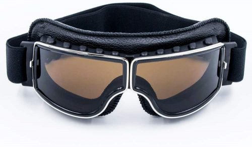 Cynemo Motorbike Goggles - Vintage Pilot Leather Riding Glasses