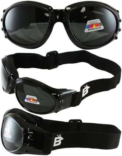 Birdz Eyewear Eagle Motorcycle Goggles set (Black Frame)