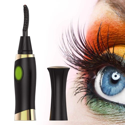 Heated Eyelash Curler, ZLiME Electric Eyelash Curler Electronic Eye Lashes Curling Comb Quick Heating Long Lasting USB Rechargeable Natural