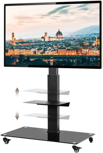 TAVR Tall Rolling TV Stand