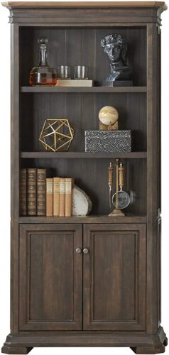 Martin Furniture IMSA3678D Executive Bookcase with Doors, Fully Assembled, Brown