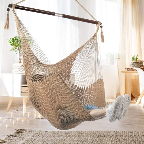 Bathonly Large Caribbean Hammock Hanging Chair