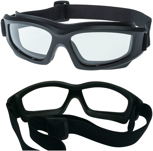"Tinted Motorcycle Riding Goggles, Heavy-Duty Riding Goggles""No Foam"""