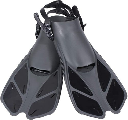Diveitone Snorkel Fins, Short Swim Fins Swimming Flippers