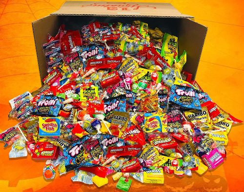 HUGE FUN MIX ASSORTED Variety BULK Individually Wrapped Candies Net Weight 12 LBS