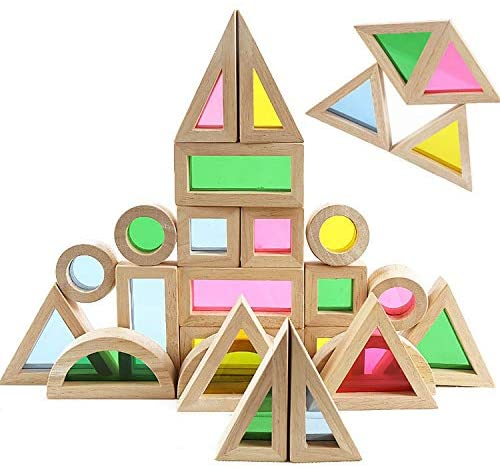 Agirlgle Wood Building Blocks Set
