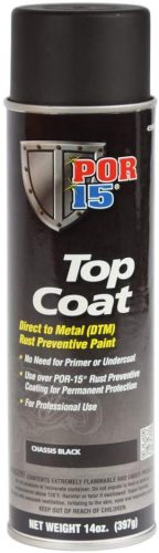 Top Coat Chassis Black Spray Paint