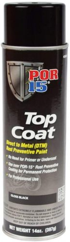 Top Coat Gloss Black Spray Paint