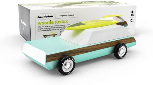 Candylab Woodie Wagon Redux Car with Surfboard