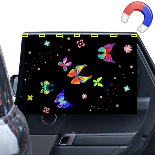 Car Side Window Sun Shade-Magnetic Curtain for Baby and Kids