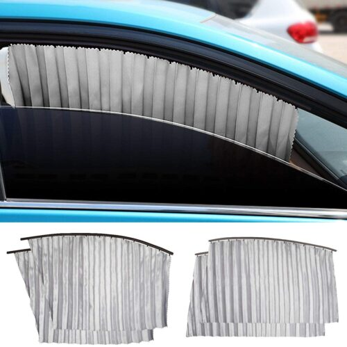 AutoChoice Magnetic car Side Window Sun Shade Front Curtain